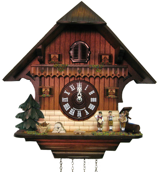 "Hones 12"" Quartz Chalet 406Q Cuckoo Clock"