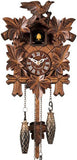 "Hones 10"" Quartz Carved Musical 412QM Cuckoo Clock"