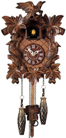"Hones 10"" Quartz Carved Musical 413QM Cuckoo Clock"
