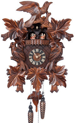 "Hones 17.5"" Quartz Carved Musical 601/5TQ Cuckoo Clock"