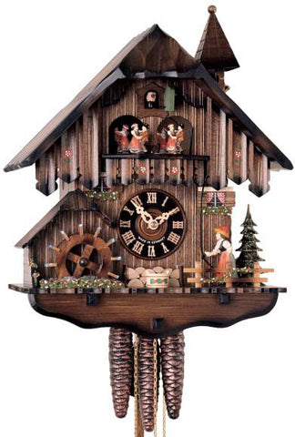"Hones 13"" 1 Day Chalet Music 619T Cuckoo Clock"