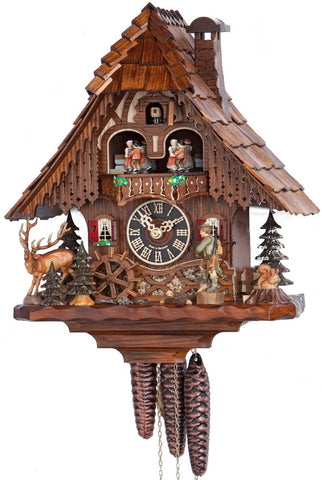 "Hones 14"" 1 Day Chalet Music 6209T Cuckoo Clock"