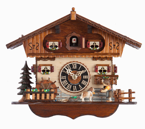 "Hones 19.5"" 1 Day Chalet Music 6212M Cuckoo Clock"