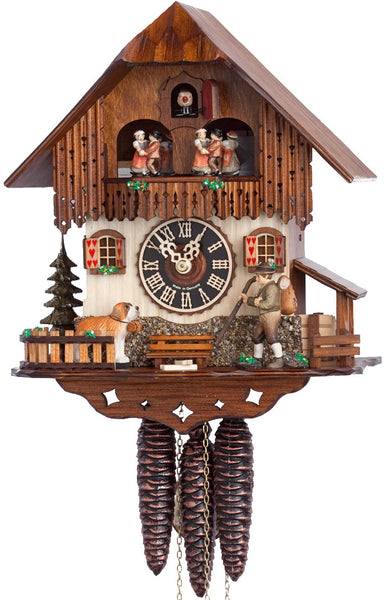 "Hones 12"" 1 Day Chalet Music 6237T Cuckoo Clock"