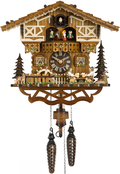 "Hones 12""  Quartz Chalet Musical 6244TQ Cuckoo Clock"
