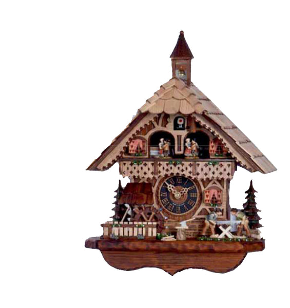 "Hones 15.5"" 1 Day Chalet Cuckoo Clock 6258T"