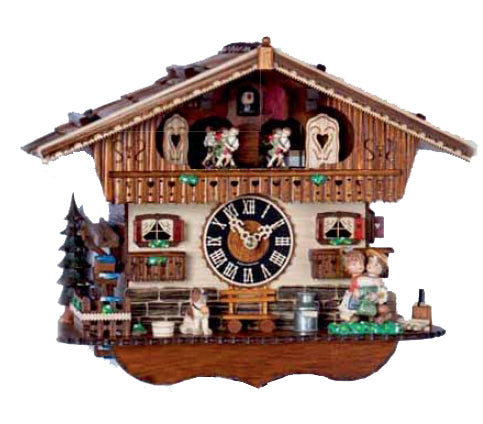 "Hones 11.5"" 1 Day Chalet Music Cuckoo Clock 6265T"