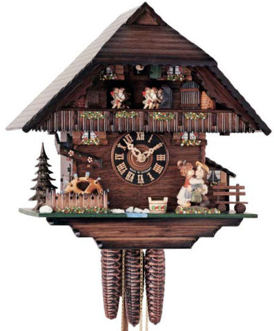 "Hones 12"" 1 Day Chalet Music 6278T Cuckoo Clock"
