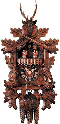 "Hones 17"" 1 Day Carved Music 634/3T Cuckoo Clock"