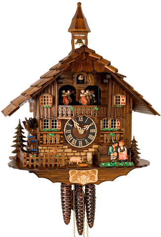 "Hones 16"" 1 Day Chalet Music 638T Cuckoo Clock"