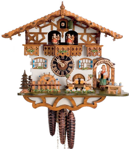 "Hones 12"" 1 Day Chalet Music 664TZENI Cuckoo Clock"