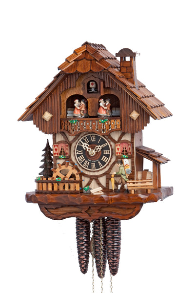 "Hones 13"" 1 Day Chalet Music Cuckoo Clock 6712T"