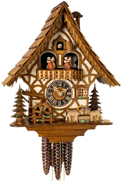 "Hones 13.5"" 1 Day Chalet Music 6744T Cuckoo Clock"