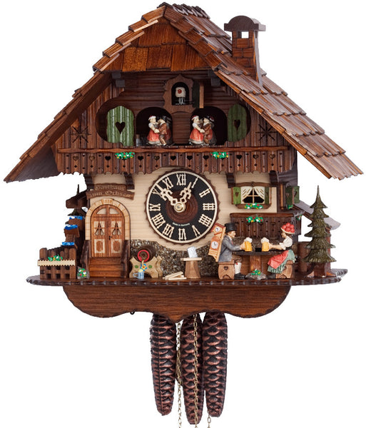 "Hones 12.5"" 1 Day Chalet Music 6763T Cuckoo Clock"