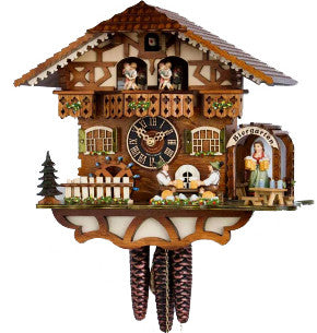 "Hones 12"" 1 Day Chalet Music 6764TZENZI Cuckoo Clock"