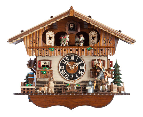 "Hones 11.5"" 1 Day Chalet Music Cuckoo Clock 6768T"