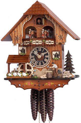 "Hones 11"" 1 Day Chalet Music 677T Cuckoo Clock"