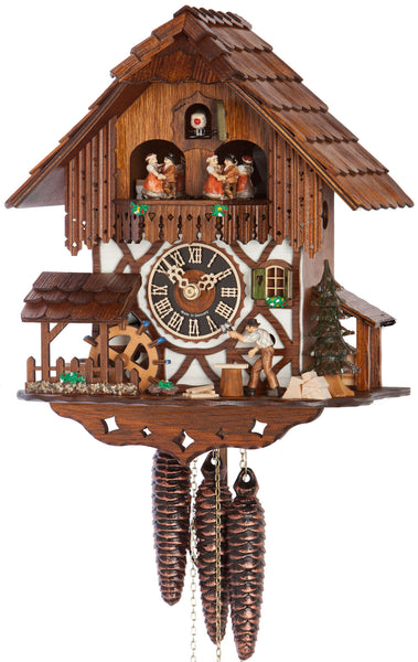"Hones 11"" 1 Day Chalet Music 678T Cuckoo Clock"