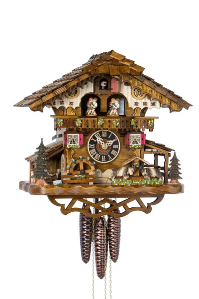 "Hones 12.5"" 1 Day Chalet Music Cuckoo Clock 694T"