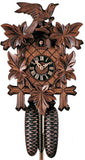 "Hones 13.8"" 8 Day Carved 800/3 Cuckoo Clock"