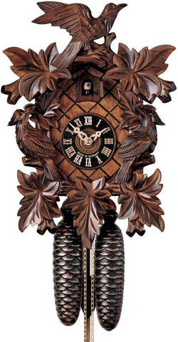 "Hones 14"" 8 Day Carved 801/3 Cuckoo Clocks"