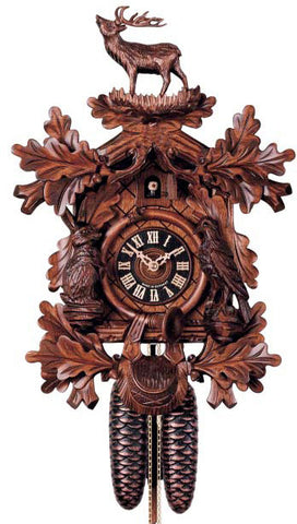 "Hones 17.5"" 8 Day Carved 8248/4 Cuckoo Clock"