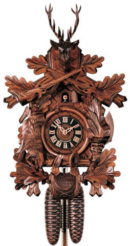 "Hones 19"" 8 Day Carved 830/4 Cuckoo Clock"