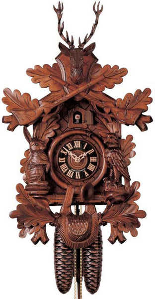 "Hones 17"" 8 Day Carved 834/3 Cuckoo Clock"