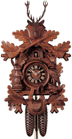 "Hones 19.5"" 8 Day Carved 834/4 Cuckoo Clock"