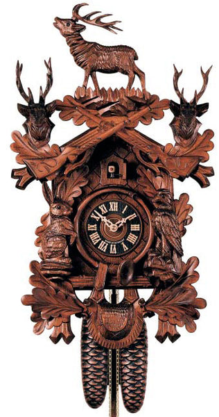 "Hones 20"" 8 Day Carved 837/4 Cuckoo Clock"