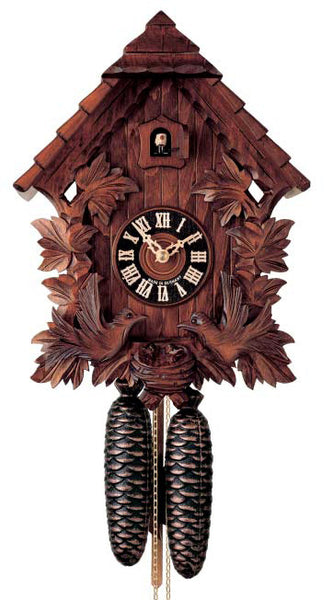 "Hones 13.5"" 8 Day Carved 8442/4 Cuckoo Clock"