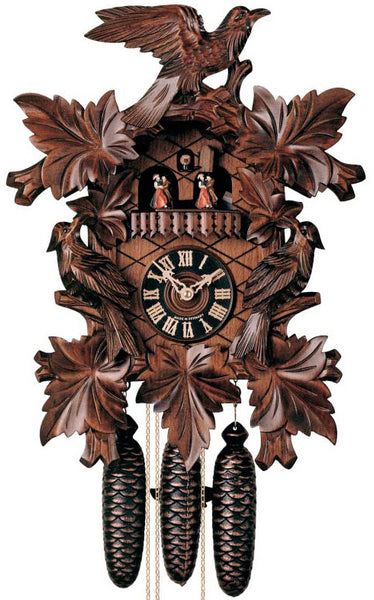 "Hones 19"" 8 Day Carved Music 8601/5T Cuckoo Clock"