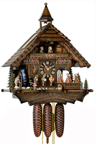 "Hones 19.5"" 8 Day Chalet Music 86200T Cuckoo Clock"