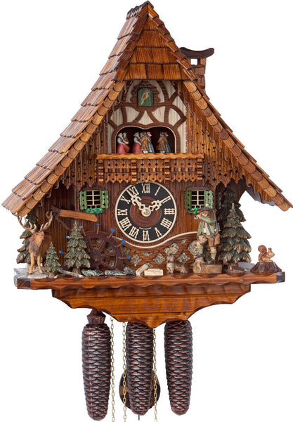 "Hones 19.5"" 8 Day Chalet Music 86209T Cuckoo Clock"