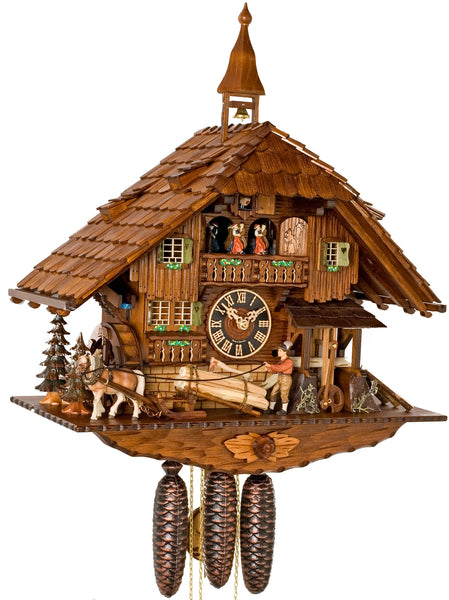 "Hones 19.5"" 8 Day Chalet Music 86230T Cuckoo Clock"