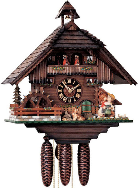 "Hones 20"" 8 Day Chalet Music 86278T Cuckoo Clock"