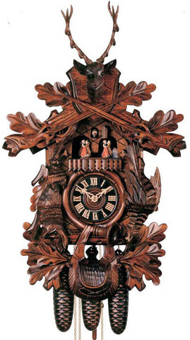 "Hones 19.5"" 8 Day Carved Music 8630/4T Cuckoo Clock"