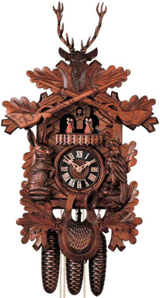 "Hones 19.5"" 8 Day Carved Music 8634/4T Cuckoo Clock"
