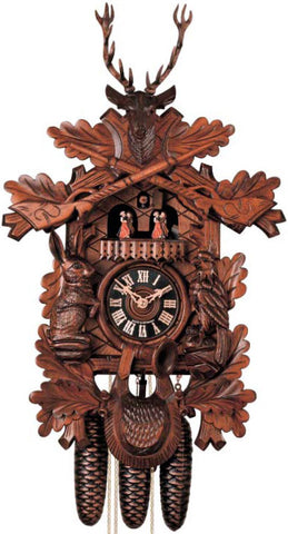 "Hones 24"" 8 Day Carved Music 8634/5T Cuckoo Clock"