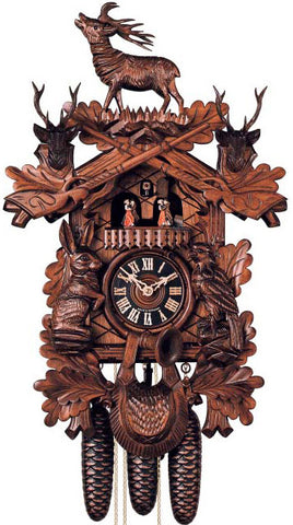 "Hones 20"" 8 Day Carved Music 8637/4T Cuckoo Clock"