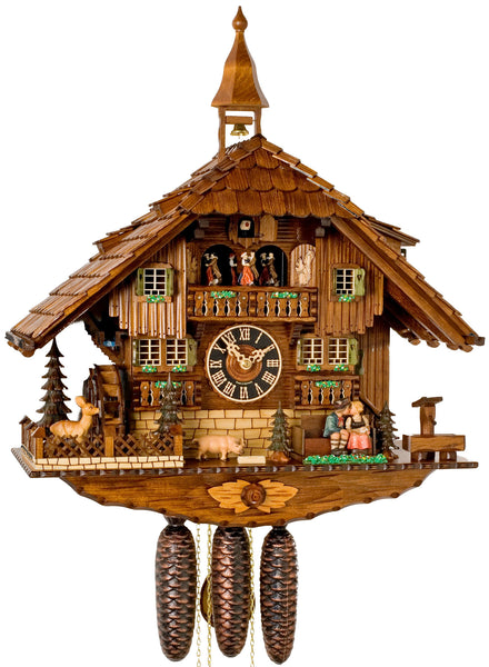 "Hones 23"" 8 Day Chalet Music 8638T Cuckoo Clock"