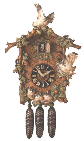 "Hones 19.5"" 8 Day Carved Music 8639/6 Cuckoo Clock"