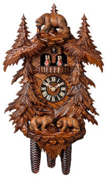 "Hones 21.5"" 8 Day Carved Music 86709/5TKO Cuckoo Clock"