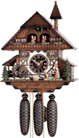"Hones 13"" 8 Day Chalet Music 8673T Cuckoo Clock"