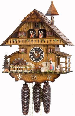 "Hones 13"" 8 Day Chalet Music 8677T Cuckoo Clock"