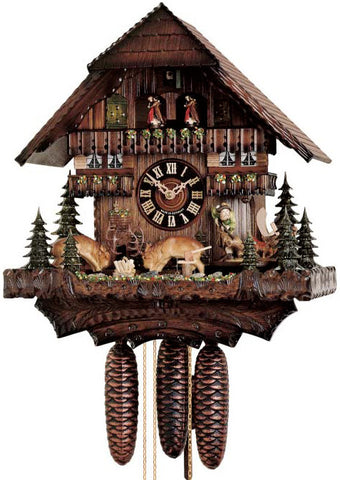 "Hones 16"" 8 Day Chalet Music 8688T Cuckoo Clock"