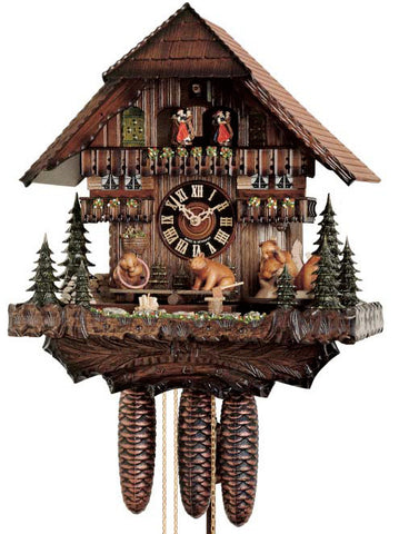 "Hones 16"" 8 Day Chalet Music 8689T Cuckoo Clock"
