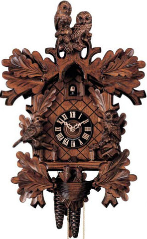"Hones 17.5"" 8 Day Carved 879/4 Cuckoo Clock"