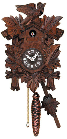 Engstler 1 Day Cuckoo Clock with Five Leaves & One Bird 931-10