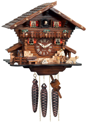 Engstler 1 Day Musical Chalet Cuckoo Clock M448-12